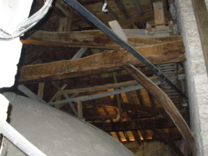 Old and new holds up the roof ... just !!