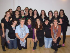 Jill with doulas in Madrid